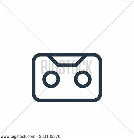 cassette tape icon isolated on white background from media collection. cassette tape icon trendy and
