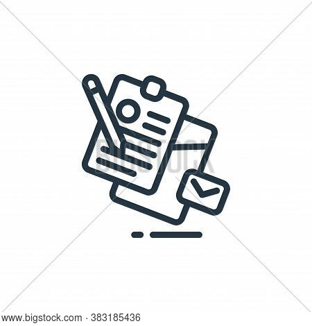 stationery icon isolated on white background from design tools collection. stationery icon trendy an