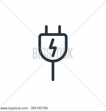 plug icon isolated on white background from electronics collection. plug icon trendy and modern plug