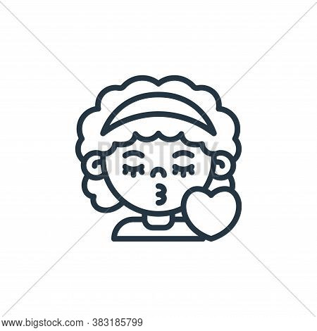 girl icon isolated on white background from kids avatars collection. girl icon trendy and modern gir