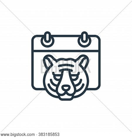 tiger icon isolated on white background from chinese new year collection. tiger icon trendy and mode
