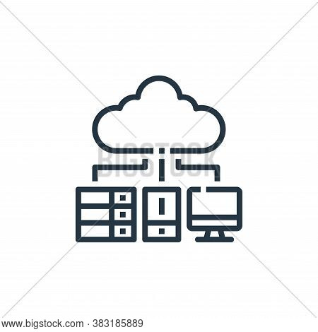 storage icon isolated on white background from office collection. storage icon trendy and modern sto