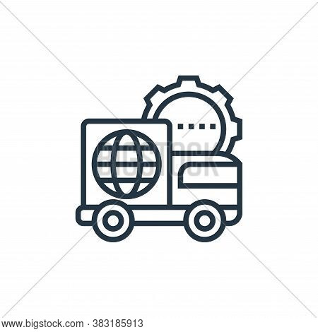 shipment icon isolated on white background from industry collection. shipment icon trendy and modern