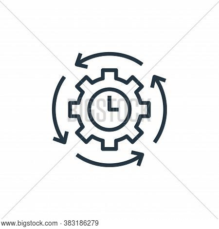 time management icon isolated on white background from startup and development collection. time mana