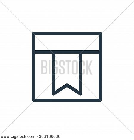 bookmark icon isolated on white background from finance collection. bookmark icon trendy and modern