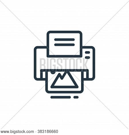 printing icon isolated on white background from design tools collection. printing icon trendy and mo