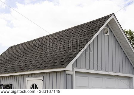 Roof Covered Asphalt Shingles Roofing Construction House Rooftop Construction Mew