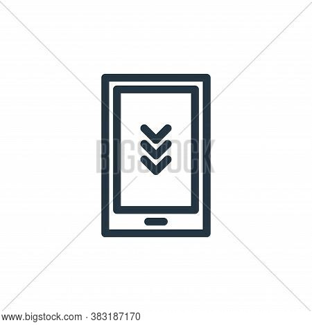 smartphone icon isolated on white background from finance collection. smartphone icon trendy and mod