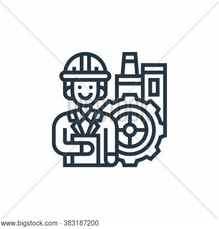 manager icon isolated on white background from industrial process collection. manager icon trendy an