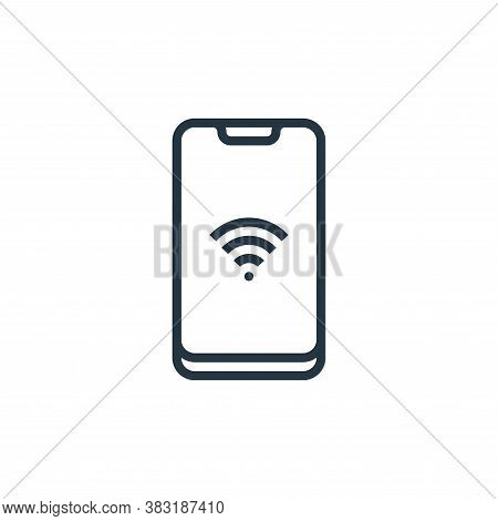 smartphone icon isolated on white background from smarthome collection. smartphone icon trendy and m