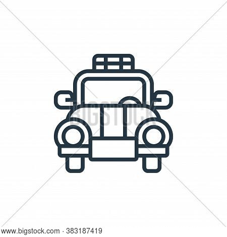 taxi icon isolated on white background from airport collection. taxi icon trendy and modern taxi sym