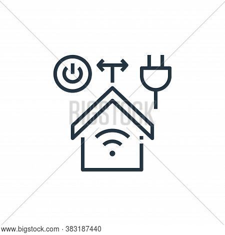 smart home icon isolated on white background from smart home collection. smart home icon trendy and