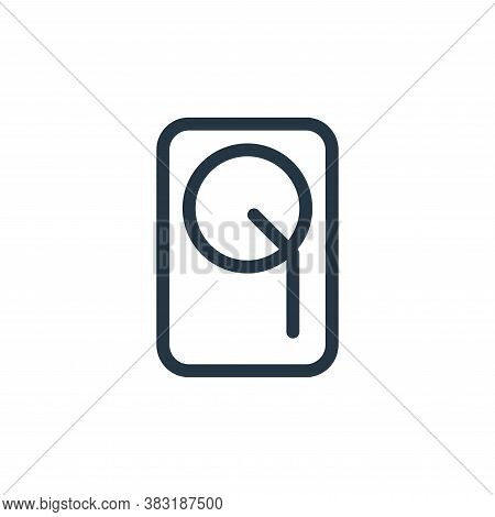 hard drive icon isolated on white background from media collection. hard drive icon trendy and moder