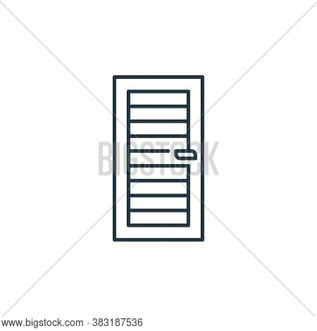 door icon isolated on white background from interior design collection. door icon trendy and modern