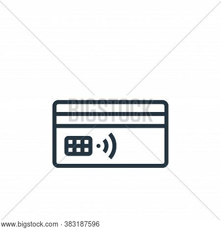 credit card icon isolated on white background from smarthome collection. credit card icon trendy and
