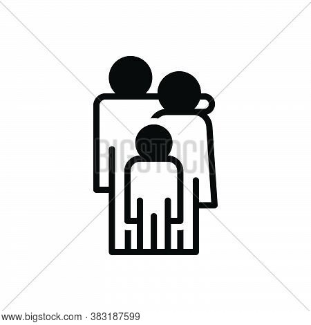 Black Solid Icon For Parent Ancestor Mother Father Progenitor Guardian Baby Member