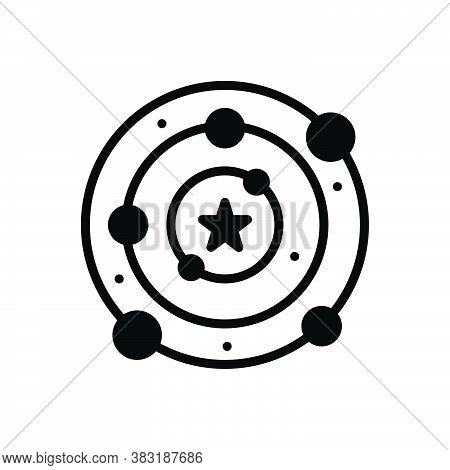 Black Solid Icon For Universe Cosmos Totality Astronaut Galaxy Eclipse Way Bang Elliptical Explorati