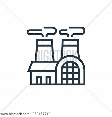 nuclear plant icon isolated on white background from industry collection. nuclear plant icon trendy