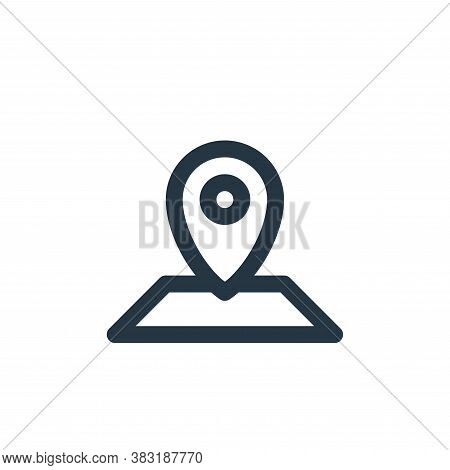 location icon isolated on white background from outdoor collection. location icon trendy and modern