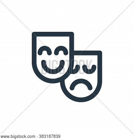 mask icon isolated on white background from arts collection. mask icon trendy and modern mask symbol