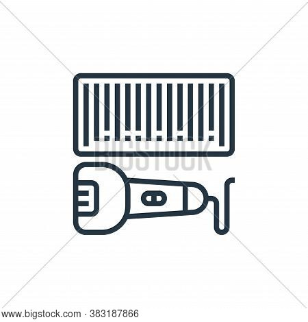 barcode icon isolated on white background from industrial process collection. barcode icon trendy an