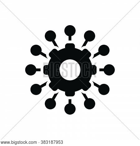 Black Solid Icon For Manage Administer Dominate Organize Maintain Supervise