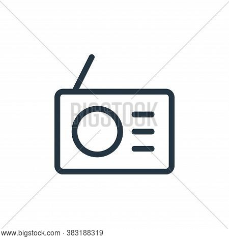 radio icon isolated on white background from electronics collection. radio icon trendy and modern ra