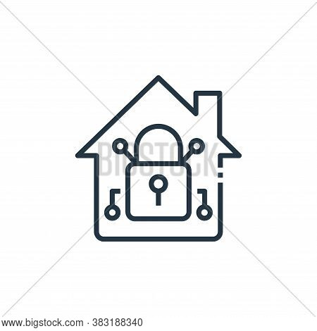 home security icon isolated on white background from smart home collection. home security icon trend