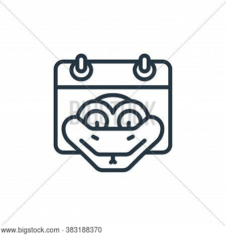 snake icon isolated on white background from chinese new year collection. snake icon trendy and mode