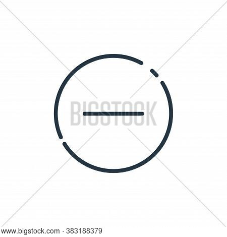 minus icon isolated on white background from user interface collection. minus icon trendy and modern