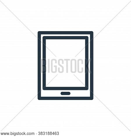 tablet icon isolated on white background from finance collection. tablet icon trendy and modern tabl