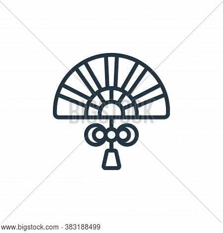fan icon isolated on white background from chinese new year collection. fan icon trendy and modern f