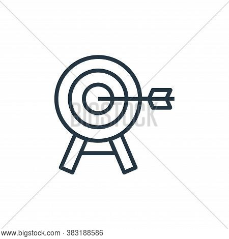 objective icon isolated on white background from banking and finance collection. objective icon tren