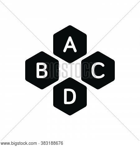 Black Solid Icon For Basic Base Underlying Fundamental Necessary Essential Alphabet