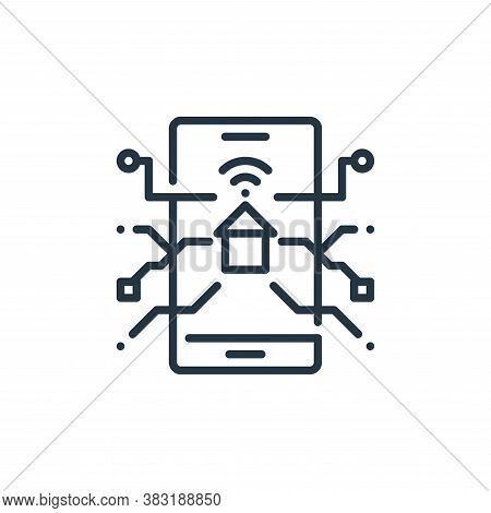 smart house icon isolated on white background from smart home collection. smart house icon trendy an