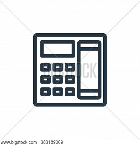 telephone icon isolated on white background from finance collection. telephone icon trendy and moder