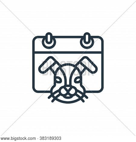 rabbit icon isolated on white background from chinese new year collection. rabbit icon trendy and mo