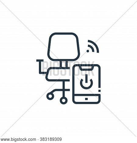 chair icon isolated on white background from smart home collection. chair icon trendy and modern cha