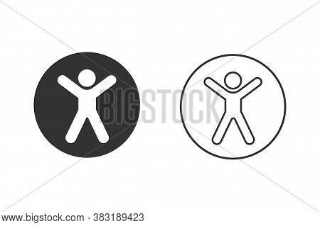 Accessibility Line Icon Set Universal Access Vector Icon