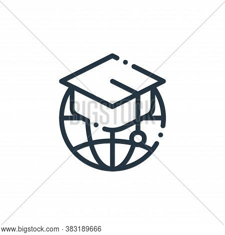 global education icon isolated on white background from education collection. global education icon