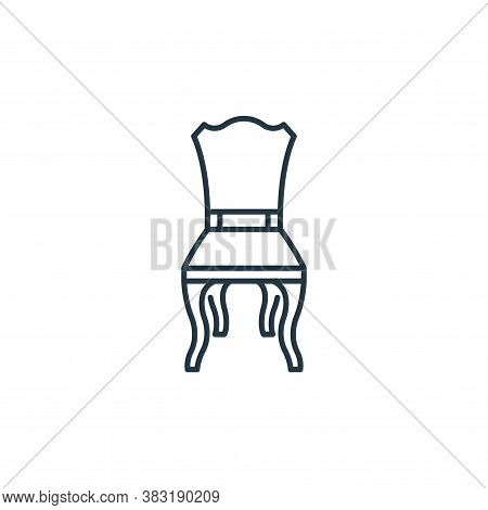 chair icon isolated on white background from interior design collection. chair icon trendy and moder