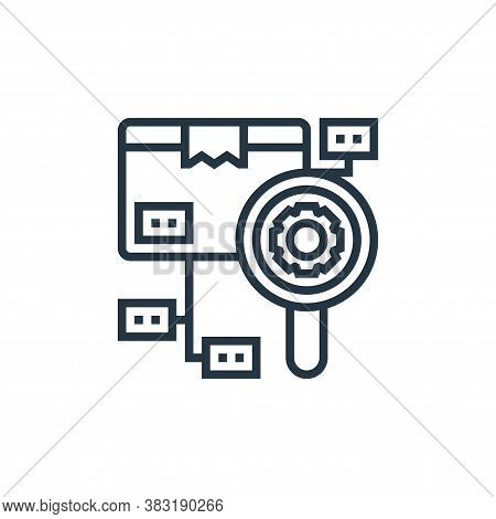 checking icon isolated on white background from industrial process collection. checking icon trendy