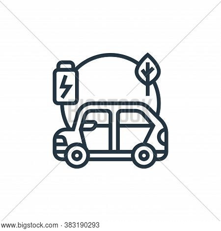 hybrid car icon isolated on white background from electric vehicle collection. hybrid car icon trend