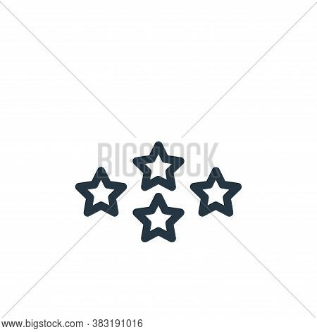 rank icon isolated on white background from finance collection. rank icon trendy and modern rank sym