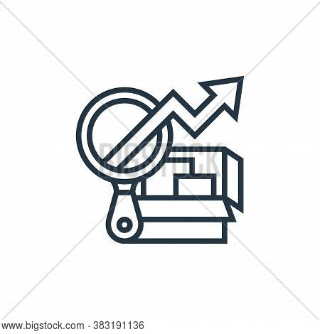 analysis icon isolated on white background from industrial process collection. analysis icon trendy