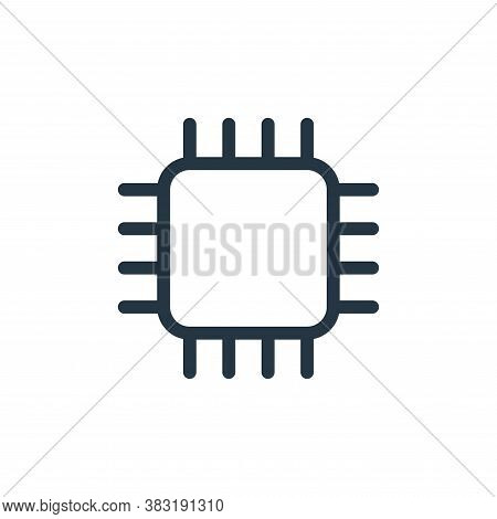 processor icon isolated on white background from media collection. processor icon trendy and modern