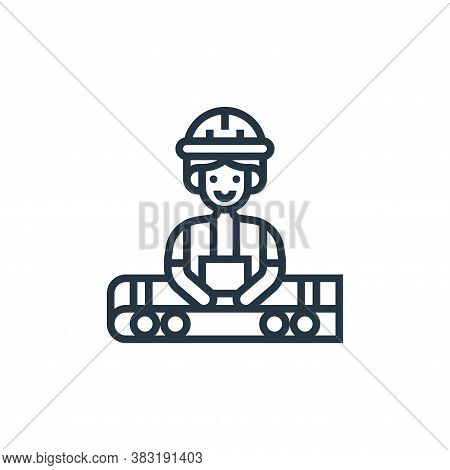 worker icon isolated on white background from industrial process collection. worker icon trendy and