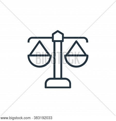 justice scale icon isolated on white background from banking and finance collection. justice scale i