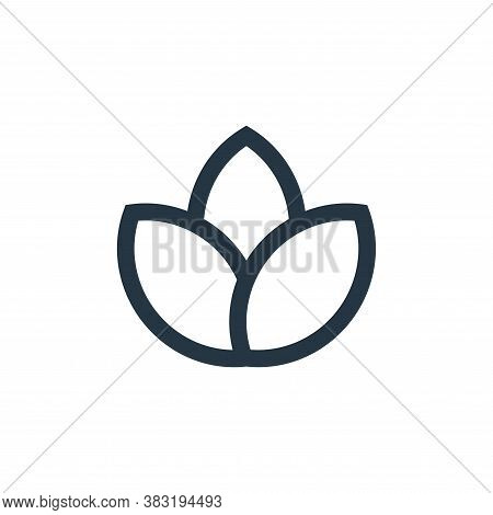 plant leaf icon isolated on white background from nature collection. plant leaf icon trendy and mode