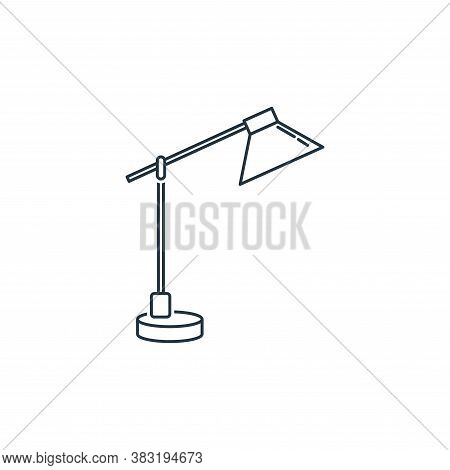 desk lamp icon isolated on white background from household collection. desk lamp icon trendy and mod